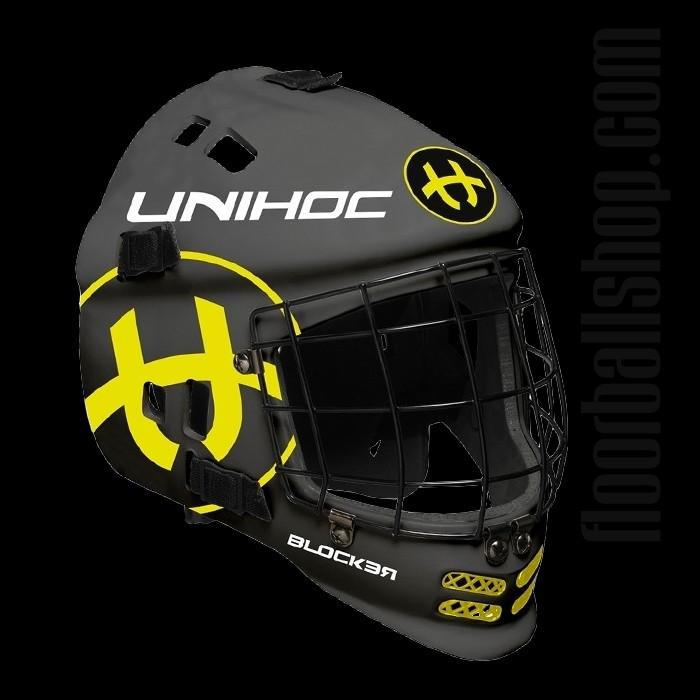 unihoc Goaliemaske Blocker Neon