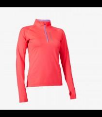 Salming Run Halfzip Longsleeve Tee Women Coral