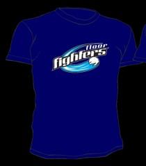 Floor Fighters T-Shirt Classic Blau
