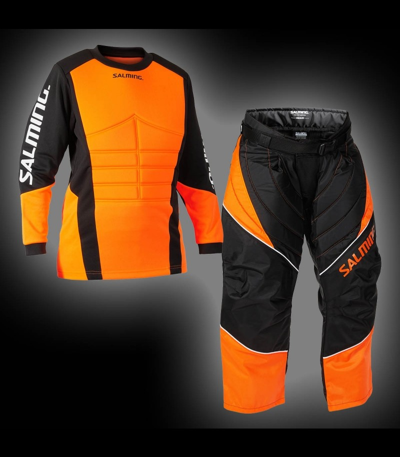 Salming Goalie Set Atlas Junior Schwarz/Orange