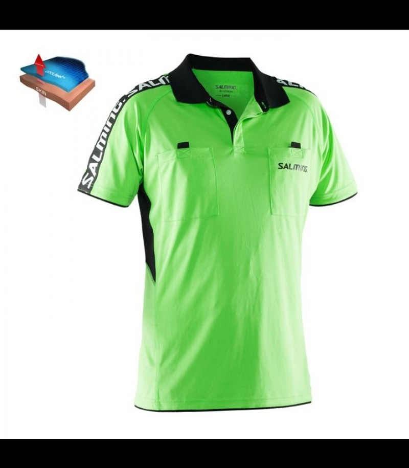 Salming Referee Polo Neongrün