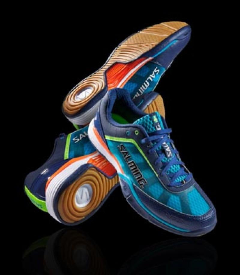 Salming Floorball & Handball Schuh Viper 2.0 Navy/Cyan