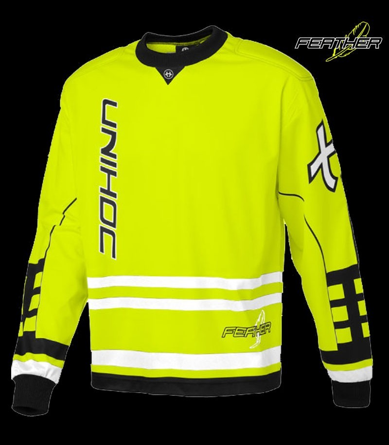 unihoc Goalietop Feather Neon Gelb