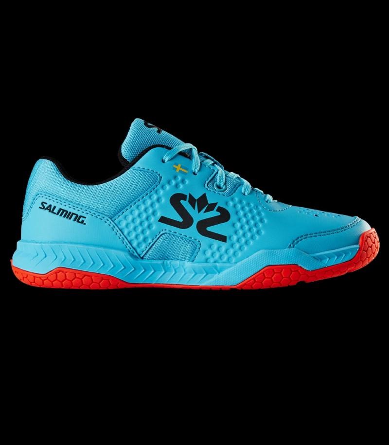 Salming Hawk Court Shoe Junior Blau/Rot