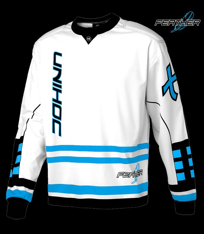 unihoc Goalietop Feather Weiss Blau