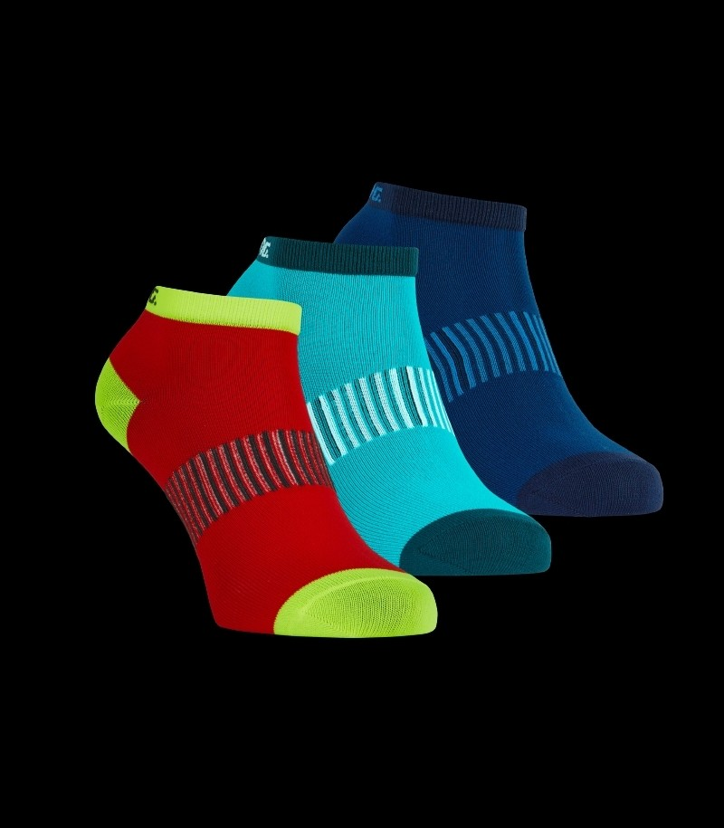 Salming Performance Ankle Sock 3-Pack Blau/Rot