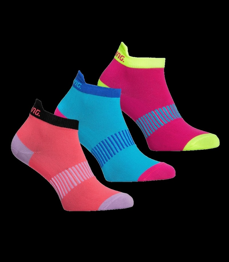 Salming Run Ankle Sock Magenta/Mix