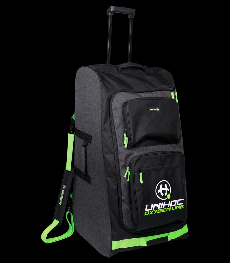 unihoc Goalie Bag Oxygen Line Large mit Rollen