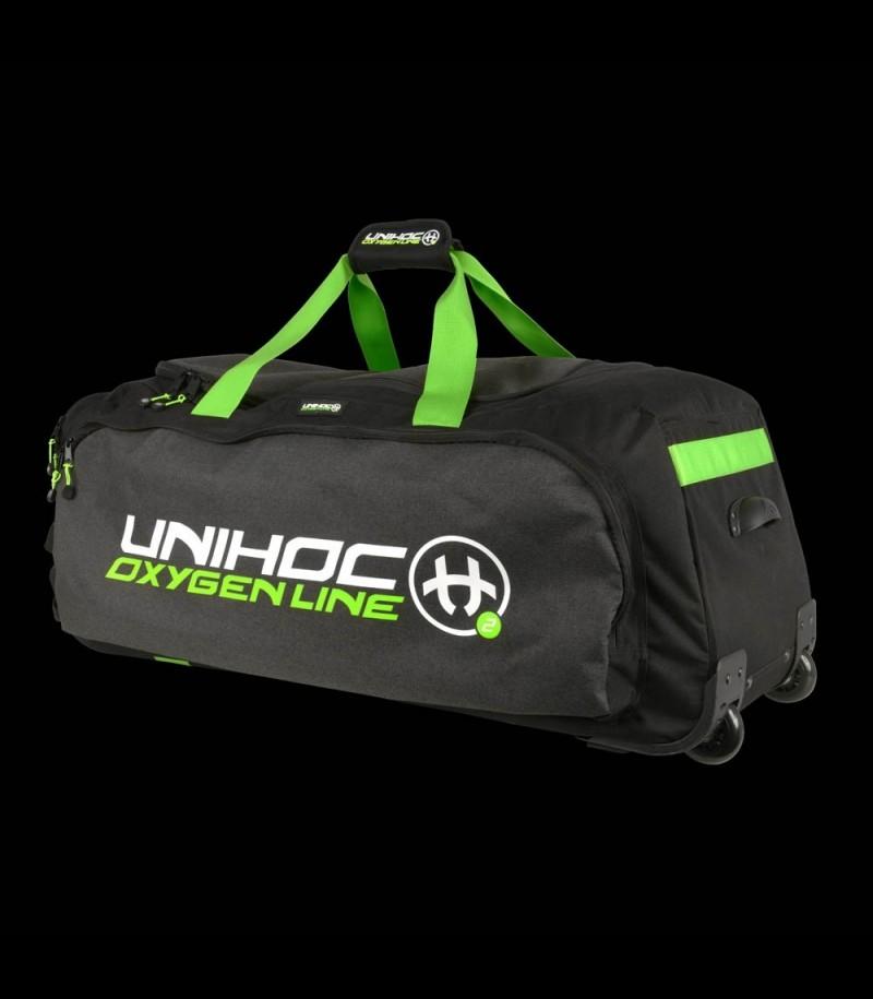 unihoc Gearbag Oxygen Line Schwarz mit Rollen