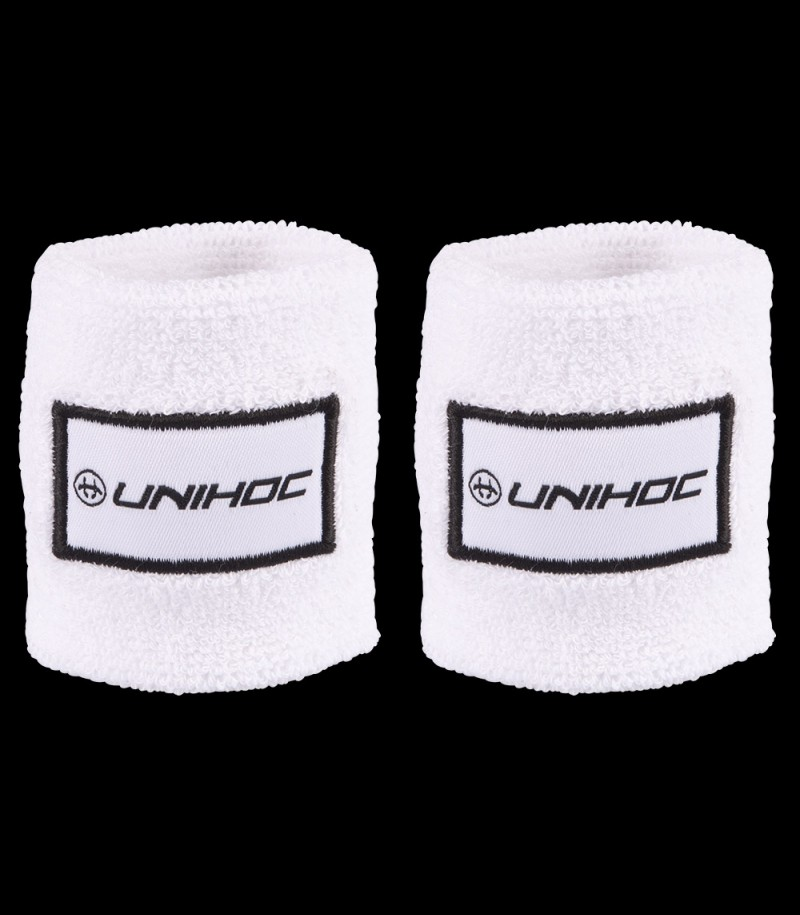 unihoc Wristband Terry 2-Pack Weiss