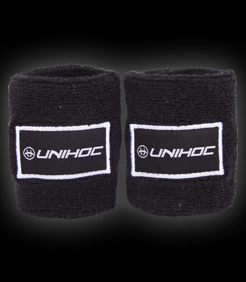 unihoc Wristband Terry 2-Pack Schwarz