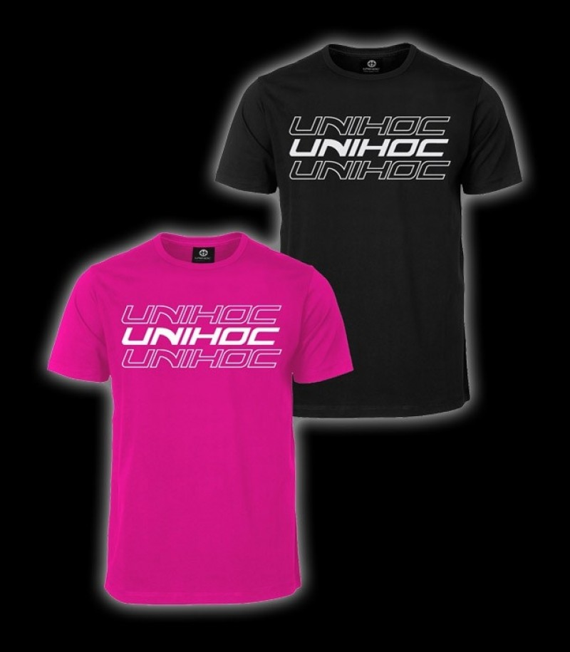unihoc T-Shirt Triple Magenta