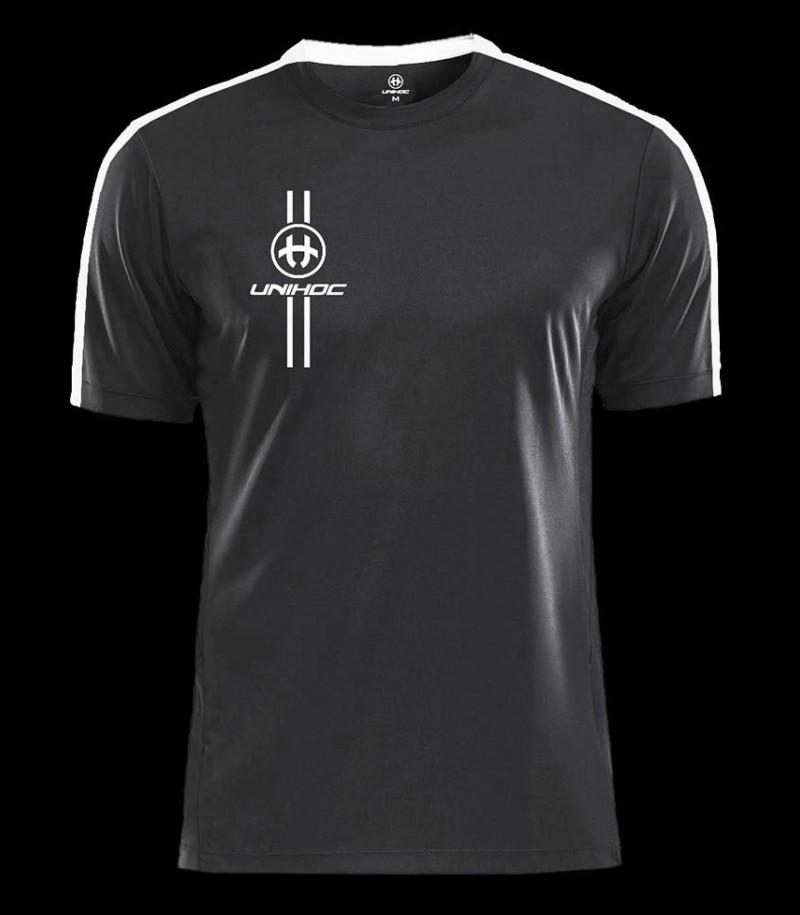 unihoc T-Shirt Arrow schwarz/weiss