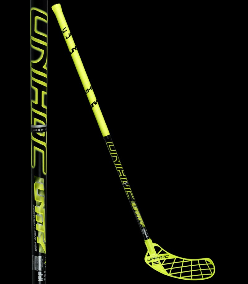 unihoc UNITY Feather Light 26 neon gelb/schwarz