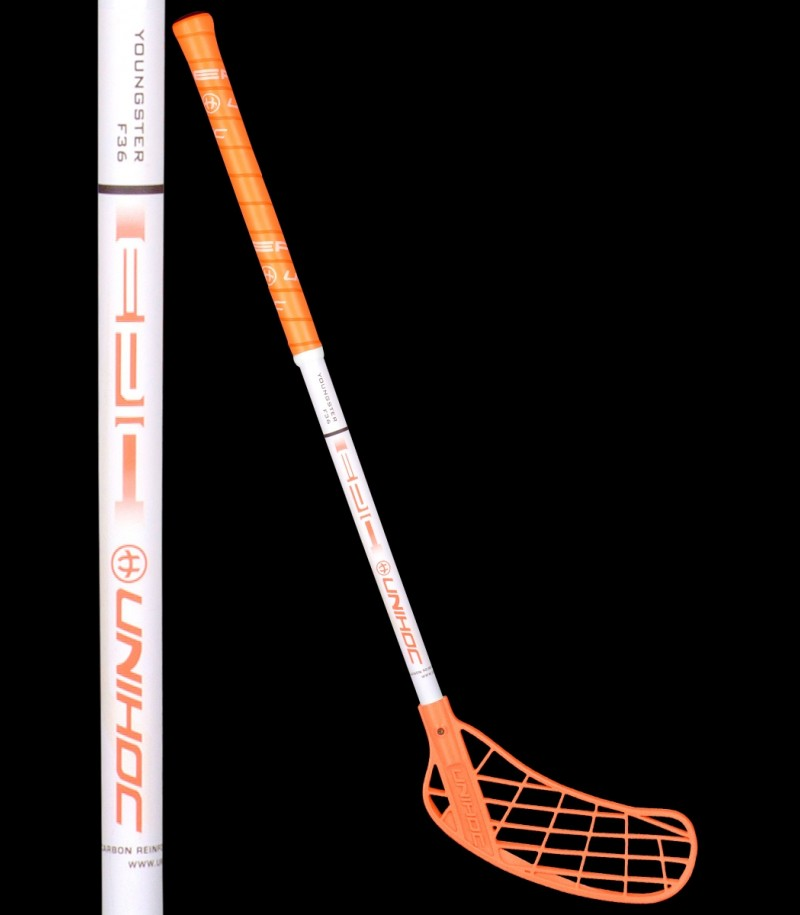 unihoc EPIC Youngster 36 neonorange/weiß
