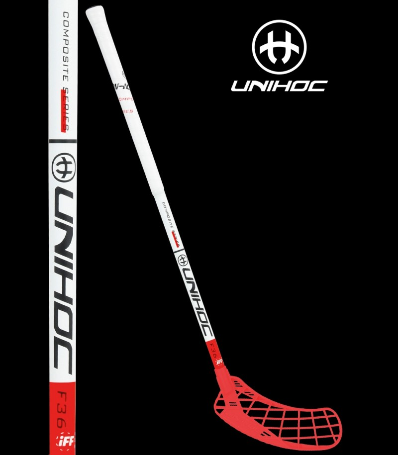 unihoc EPIC Youngster 36 Weiss/Rot