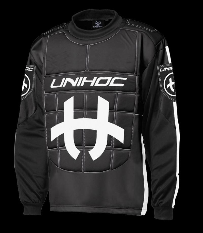 unihoc Torhüterpullover Shield Senior schwarz/weiss