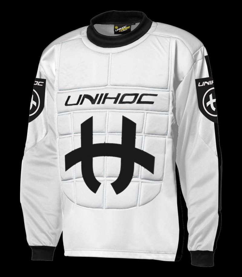 unihoc Torhüterpullover Shield Junior schwarz/weiss