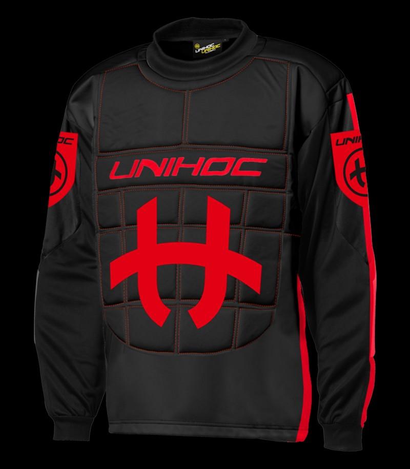unihoc Torhüterpullover Shield Senior schwarz/rot