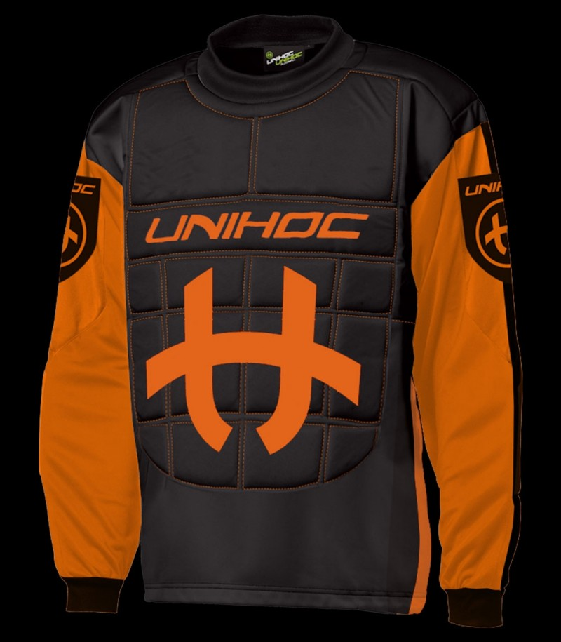 unihoc Torhüterpullover Shield Junior neonorange/schwarz