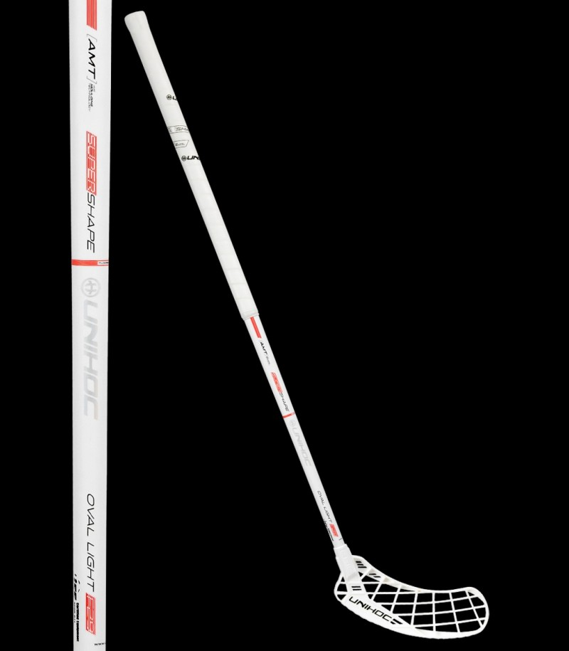 unihoc Epic Oval Light 29 weiss/rot