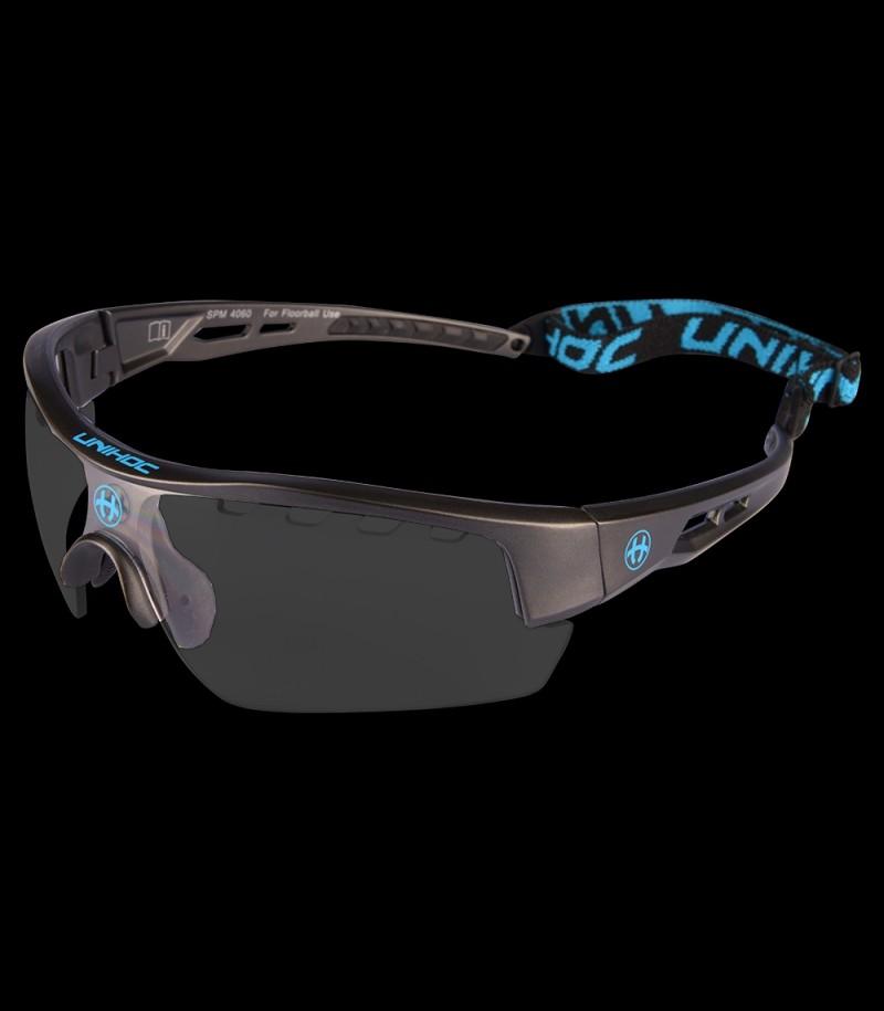 unihoc Sportbrille Victory Senior Anthrazit/Blau