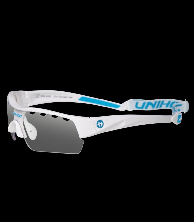 unihoc Sportbrille Victory Junior Weiss/Blau