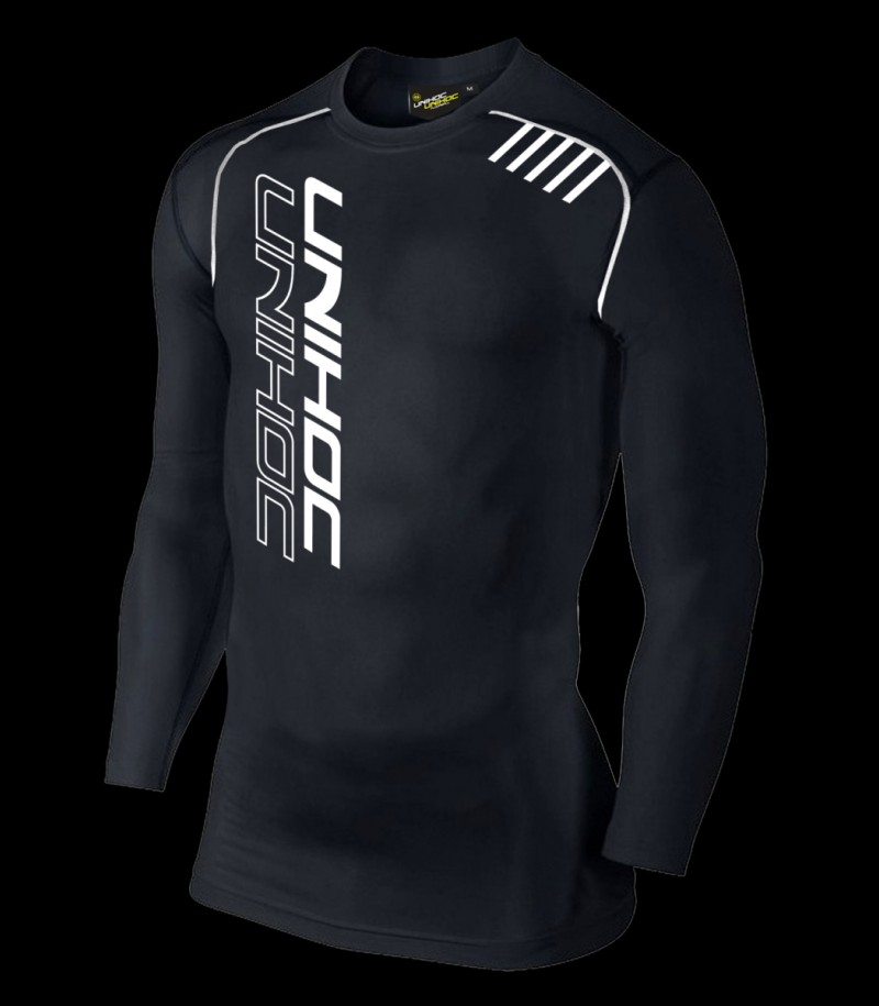 Unihoc Compression Shirt Longsleeve Schwarz