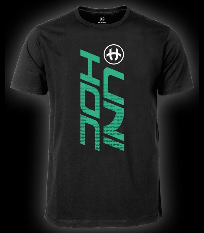 unihoc T-Shirt United Schwarz/Türkis