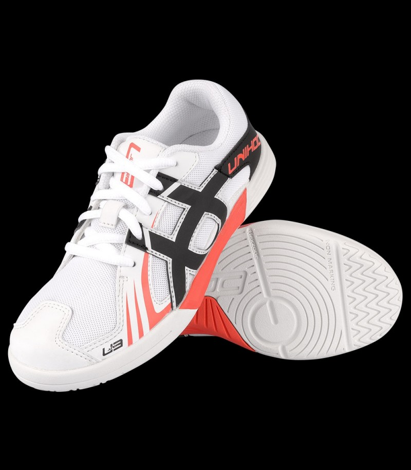 unihoc U3 Speed Junior Weiß/Rot