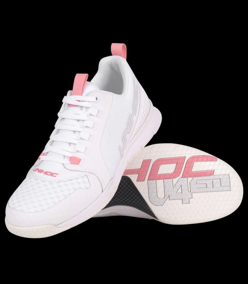 unihoc U4 Plus LowCut Lady Weiß/Pink