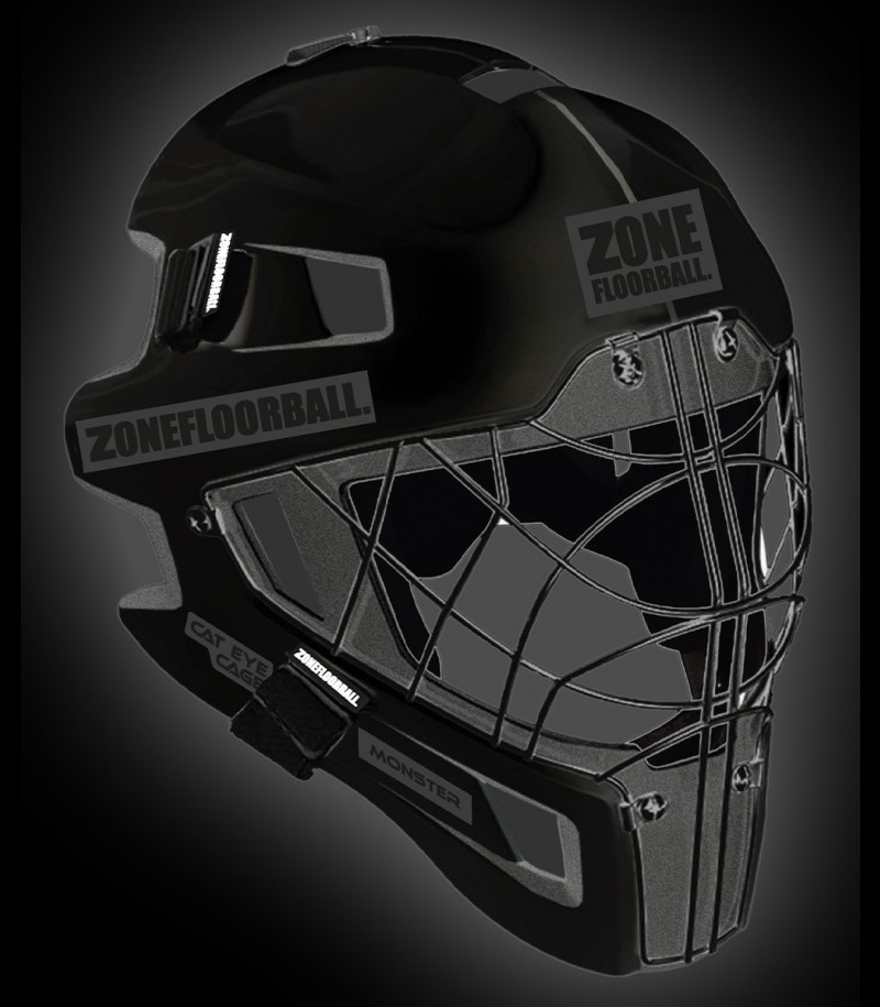 Zone Torhütermaske Monster CAT EYE Cage All Black