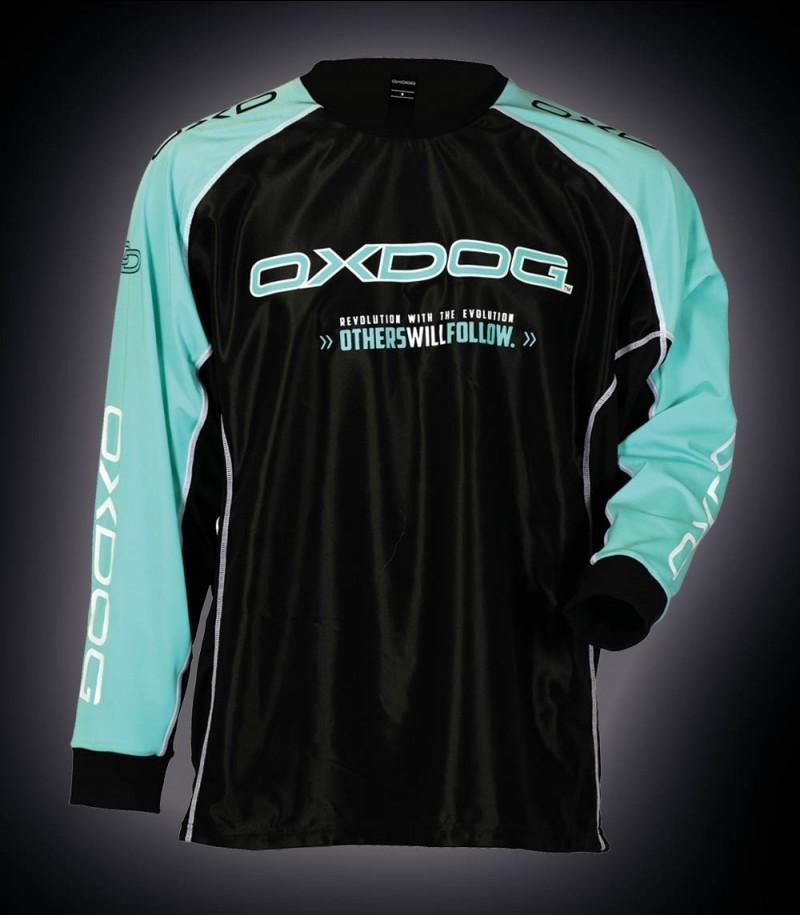 Oxdog Goalieshirt Tour Black/Tiff Blue