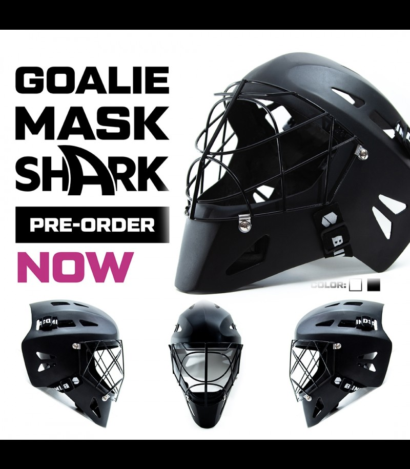 Blindsave Goaliemask SHARK Carbon Schwarz