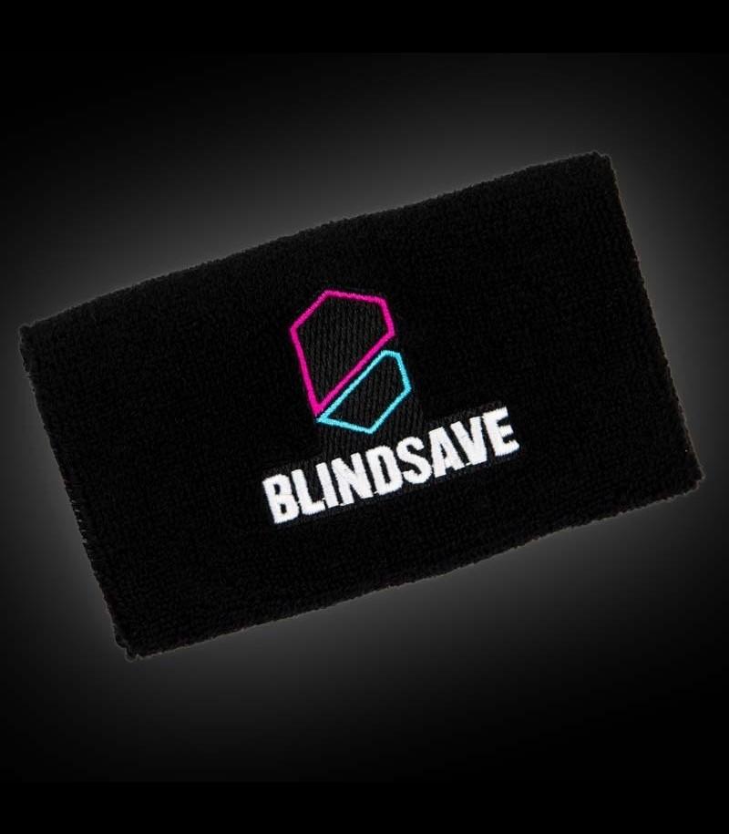 Blindsave Schweissband Schwarz mit Rebound Control