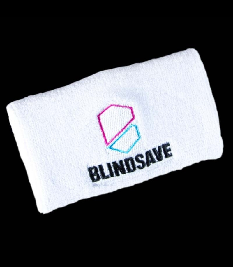 Blindsave Schweissband Weiss mit Rebound Control