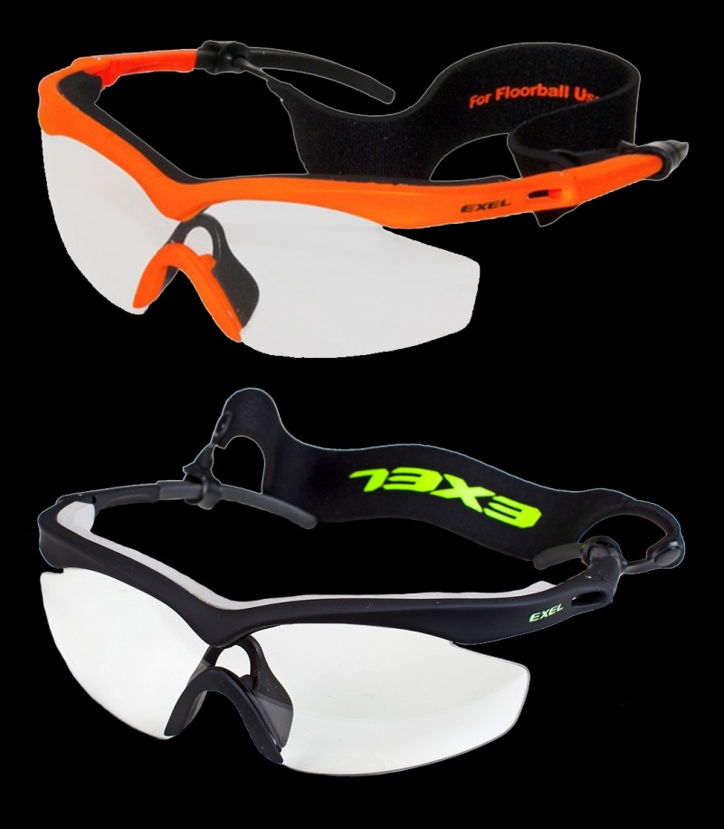 Exel Hurricane Eye Guard Schutzbrille Senior Schwarz/Neon