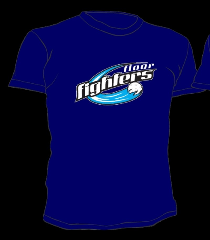 Floor Fighters T-Shirt Classic Blau