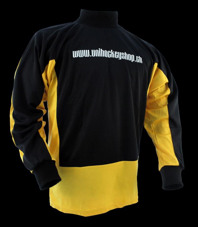 floorballshop.com Goaliepullover Progress schwarz-grau