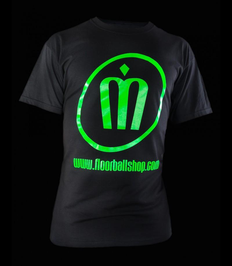 floorballshop T-Shirt Neon Line Grün