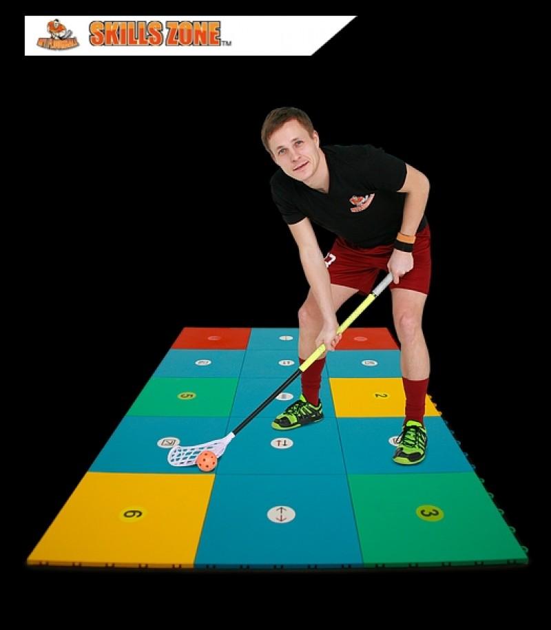 #STAYHOME MyFloorball Skills Zone (Boden, 15 Stück)