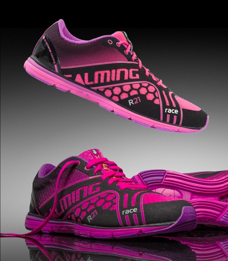 Salming Race Women Running Shoe Black/Pink