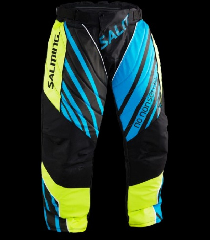 Salming Goalie Pants Travis FluoYellow/Cyan