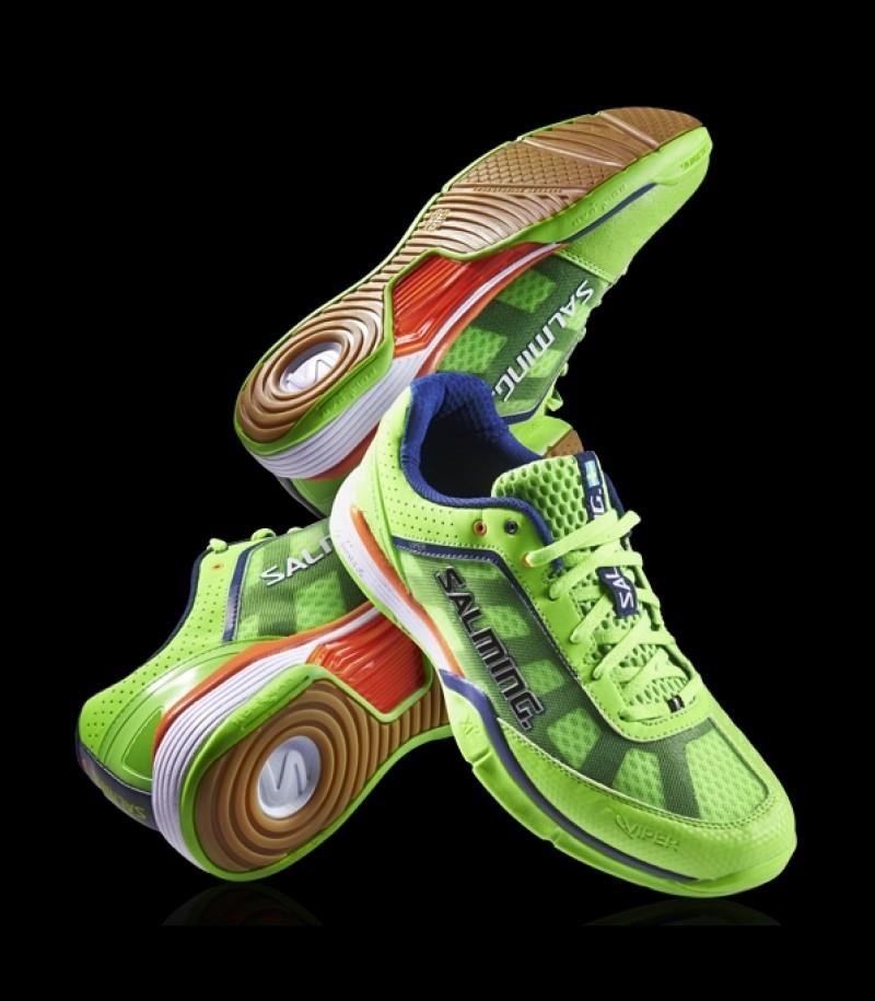 Salming Viper Floorball und Handball Schuh Gecko Green
