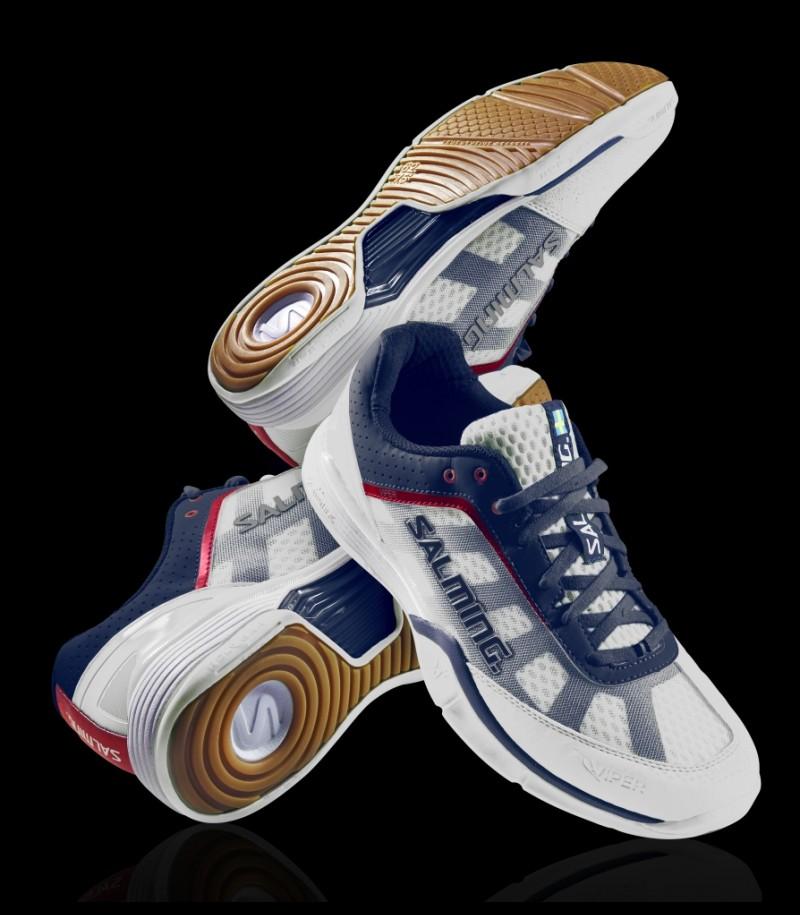 Salming Floorball & Handball Schuh Viper White/Navy (Salming Schuhe)