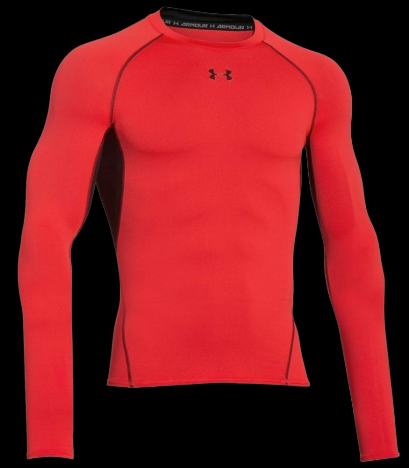 Under Armour HeatGear Compression LS Glowing Red