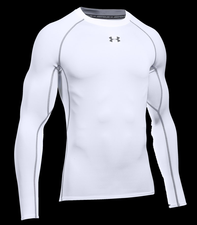 Under Armour HeatGear Compression LS Tee White