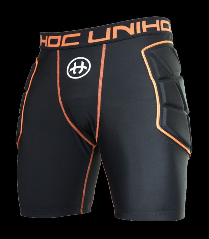 unihoc Floorball Torwart Shorts Flow Schwarz