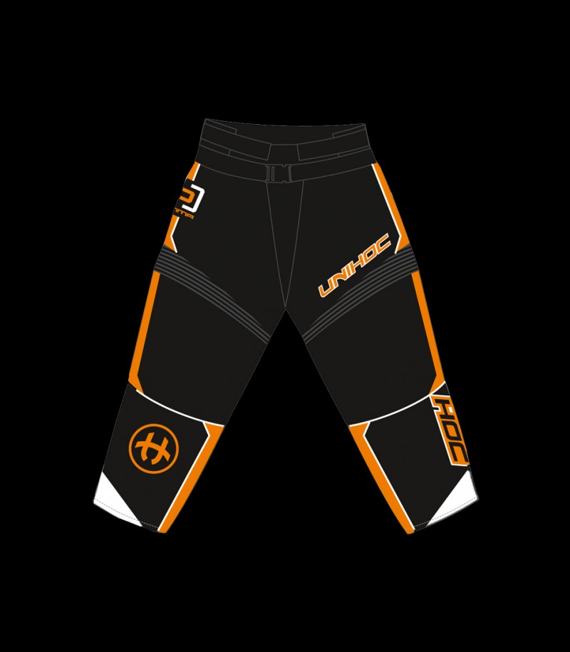 unihoc Goaliehose Optima Schwarz/Orange