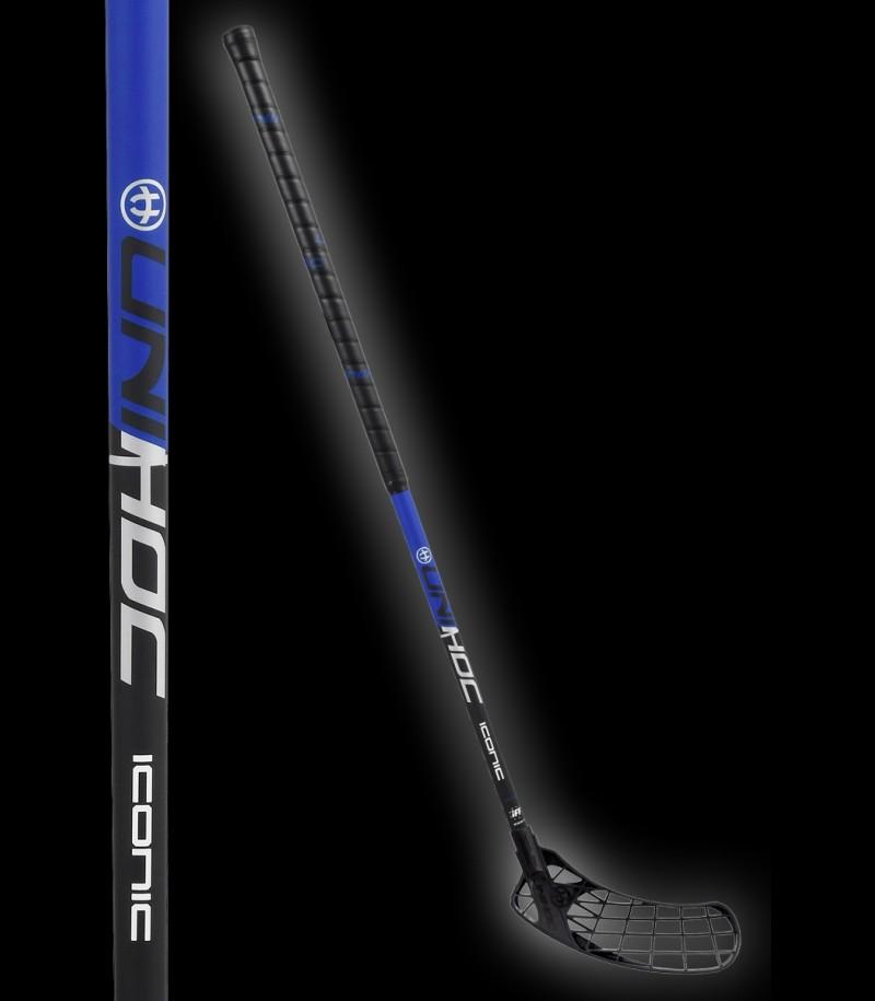 unihoc ICONIC Composite 34 schwarz/blau floorballshop Edition